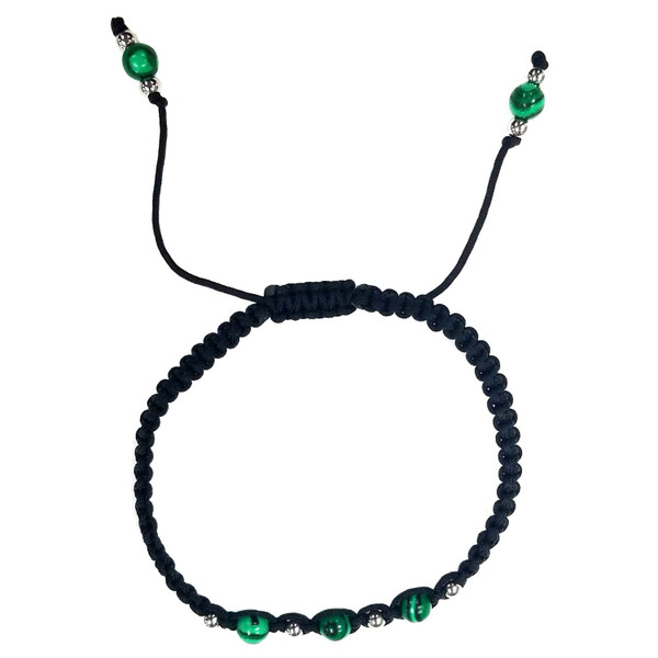 Malachite Beads Nylon Bangle