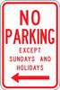 R7-3L-12 No Parking Except Sundays and Holidays