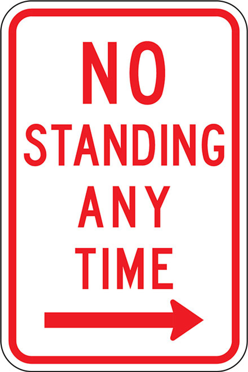 R7-4R No Standing Any Time