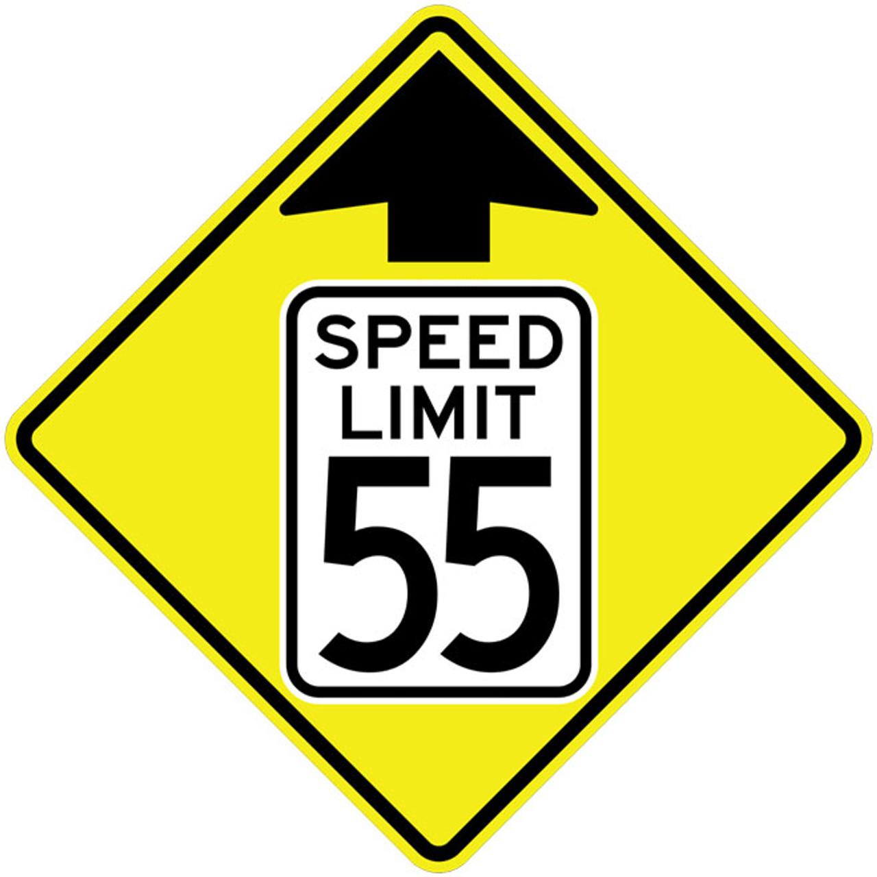 FED W3-5 Speed Reduction Sym Warning Sign