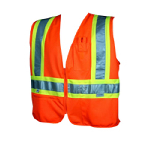 "Class 2 Safety Vest ""Zipper"" w/Stripes"