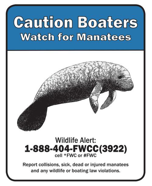 Caution Boaters CB2430-I Type I EG Sign