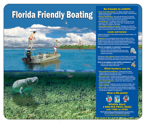 Florida Friendly Boating FFL3630-I Type I Engineer Grade Sign