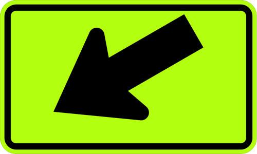 W16-7PL Left Diagonal Arrow