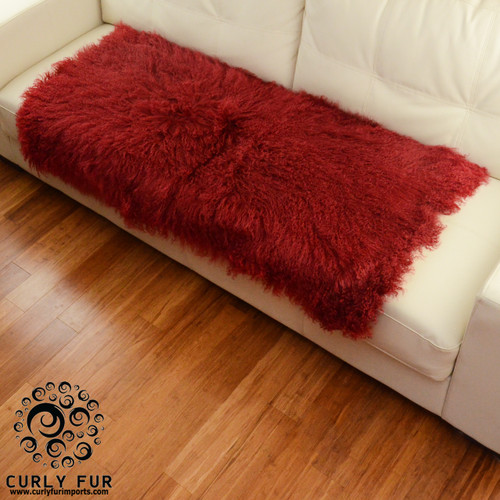 Tibetan / Mongolian Lamb Fur Decorative lambskin throw ...