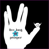 Live Long & Prosper card for chocolate gifts