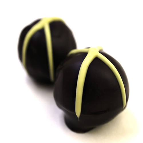 Blimey: Key lime pie caramel truffles. Gluten-free gift.