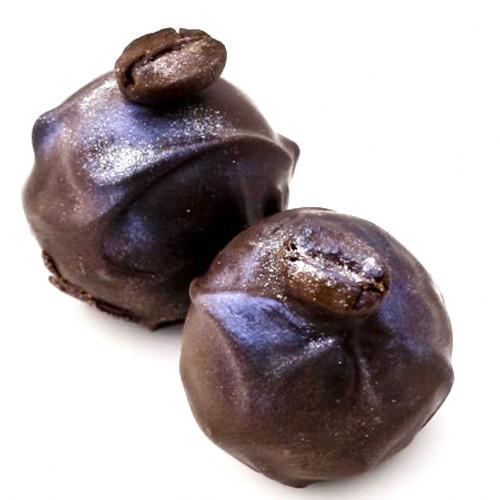 Godfather dark chocolate truffles with Italian espresso, almond, and rum
