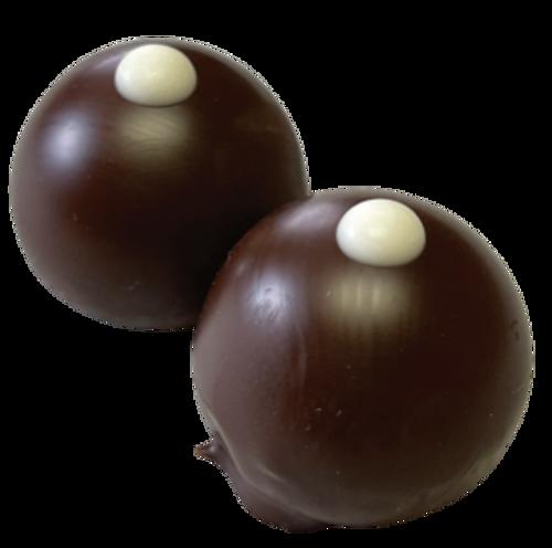 Holy Cow: gourmet, handmade dark chocolate truffles, fudge truffles, gourmet chocolate, gluten free chocolate with milk chocolate fudge and coated in dark chocolate.