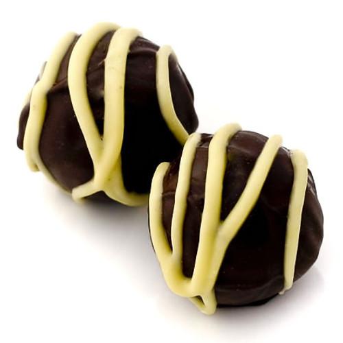 Lemon Shiver: dark chocolate truffles with organic Californian lemon