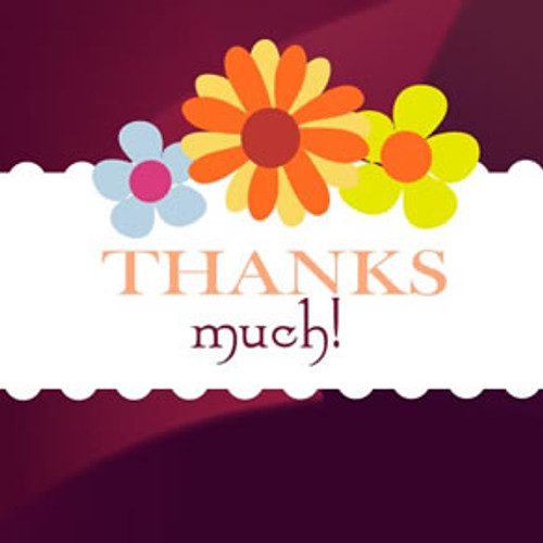 Thank You card for chocolate gifts