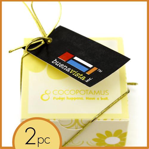 Corporate event favor box: chocolate truffles - handmade, all natural, gluten-free chocolate truffles