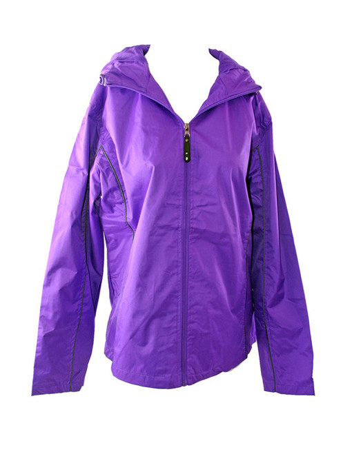 Purple Windbreaker with Charcoal Piping