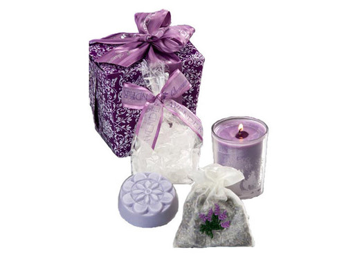 "Purple Lavender-Scented ""Take-Out"" Box"