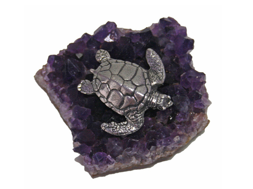 Large Sea Turtle On Amethyst
