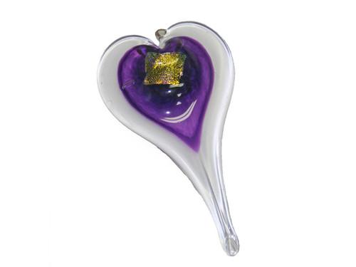 Purple Glass Heart
