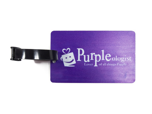 PURPLEologist Logo Luggage Tag