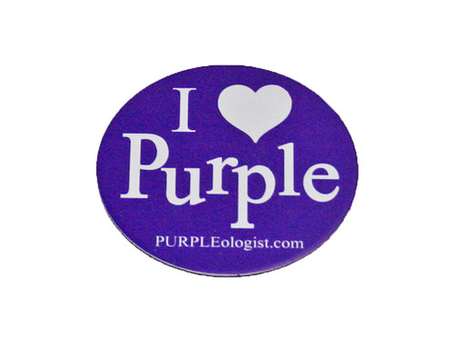 Purple Logo Magnet I Love Purple
