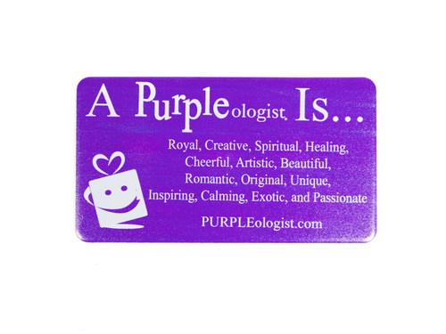 Purple Logo Magnet Is