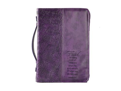 Purple Bible Cover Faith