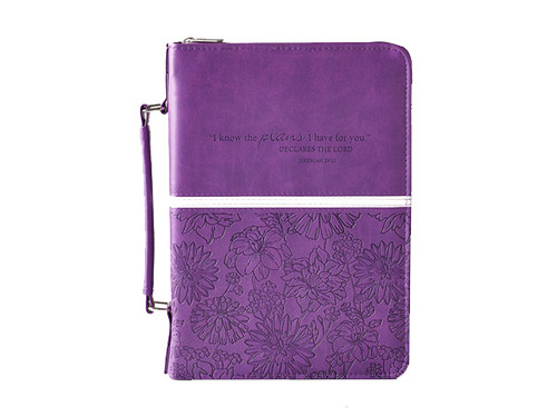 Purple Bible Cover  with Jer. 29:11