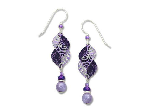 Purple Double Curve Earrings