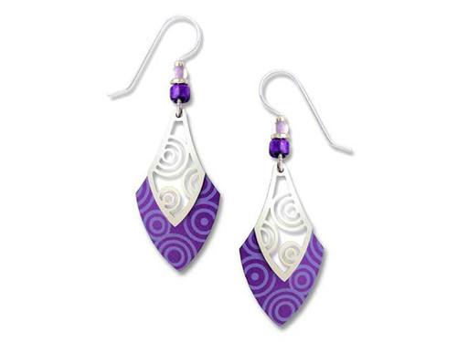 Purple Spade Circles Earrings