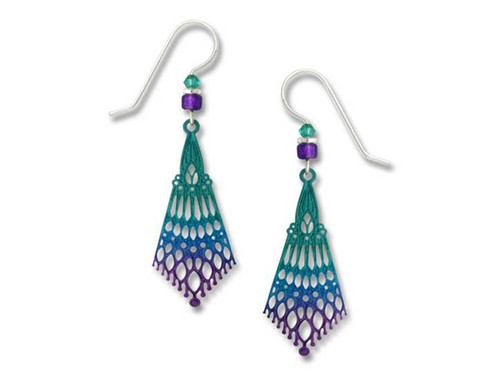 Purple And Turquoise Persian Style Earrings