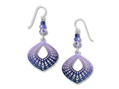 Purple Ringed Earrings