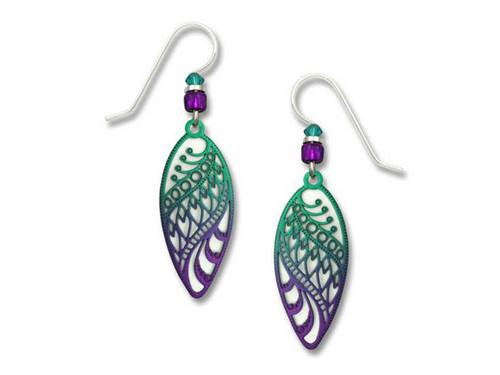 Purple Ombre Almond Earrings