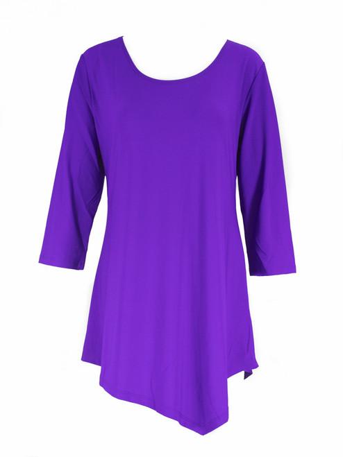 Purple  Asymetrical Tunic