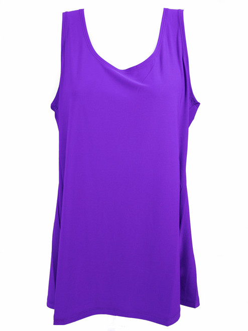 Sleeveless Purple Loose Tank Top