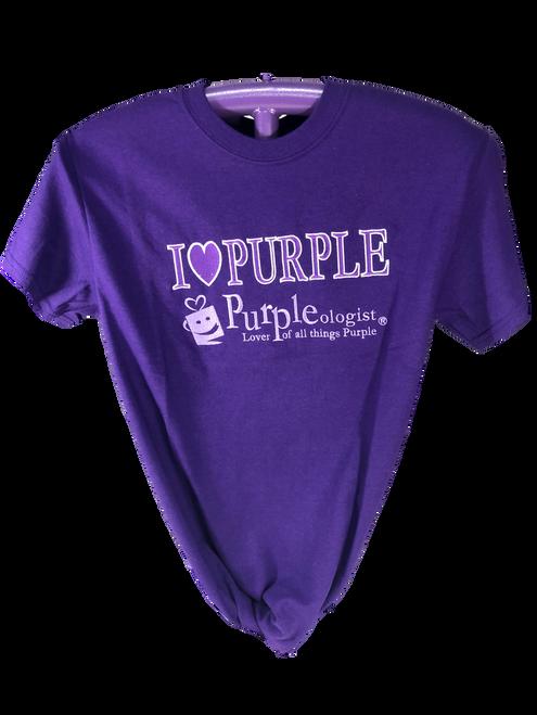 I Love Purple Logo Shirt