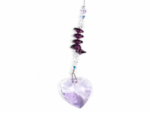 Light Purple Heart Shaped Sun Catcher