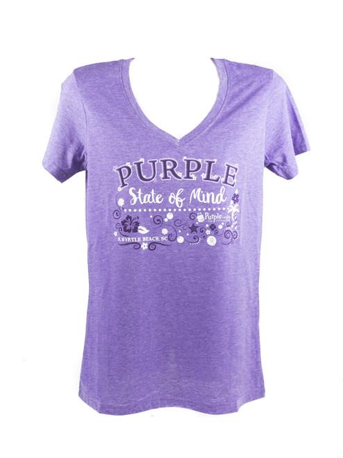 Purple State Of Mind Women's V-Neck