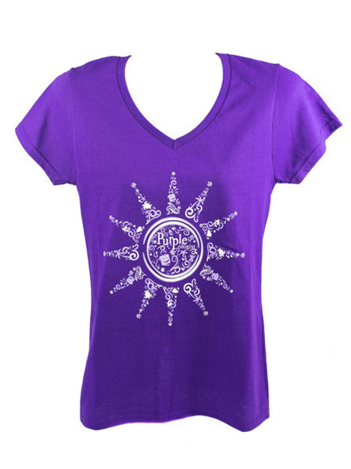 Purpleologist Sun Women's V-Neck