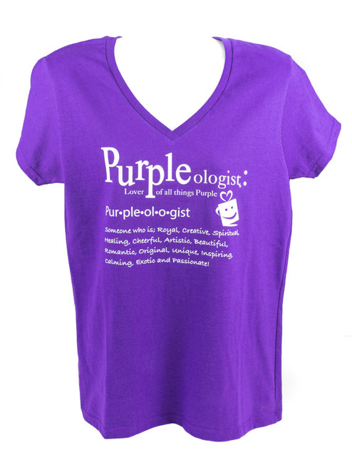 Purpleologist Definition V-Neck