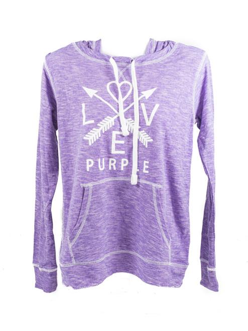 Love Purple Arrow Hoodie