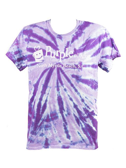 Spiral Tie Dye Purpleologist Adult T-Shirt