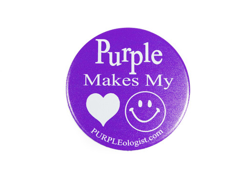 Purple Makes My Heart Happy Magnet