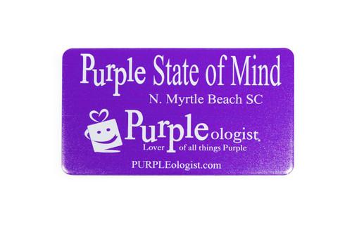 Purple State of Mind Magnet