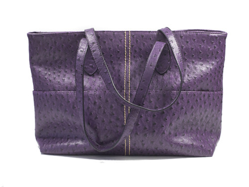 Large Textured Purple Tote