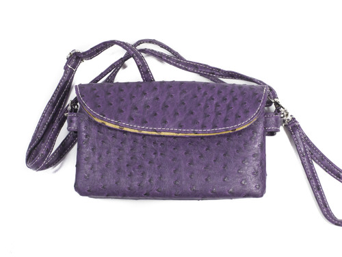 Triple Compartment Textured Shoulder Bag