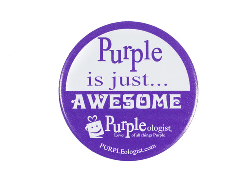 Purple Is Awesome Magnet