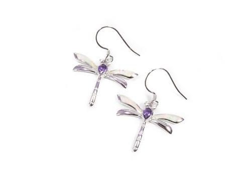 Opal Dragonfly Earrings