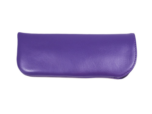 Purple Leather Eyeglass Case