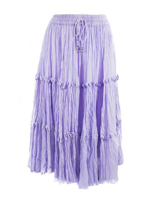 Lilac Purple Elastic Skirt