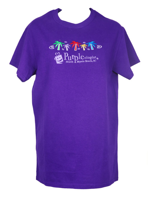 Adult Purpleologist Palm Tree T-Shirt