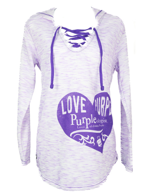 Love Purple Light Hoodie