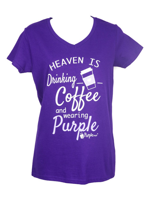 Heaven is Coffee and Purple Women's V-Neck